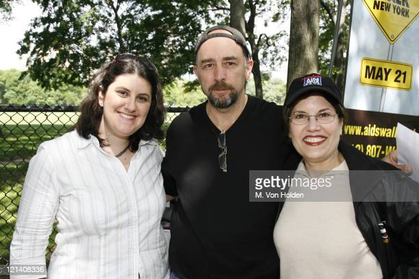 Stephanie Jo Klein Richard Schiff during Celebrities show Support at AIDS Walk New York With Klein Creative Gift Bags May 21 2006 at Central Park in...