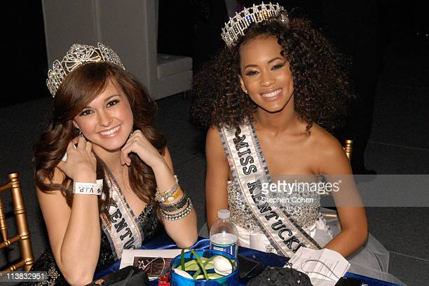 Stephanie Jones and Kia Hampton attend The Mint Jubilee at The Louisville Palace Theater on May 6 2011 in Louisville Kentucky