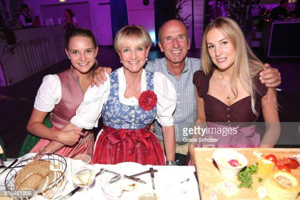 Stephanie Kinshofer Christa Kinshofer Dr Ernst Otto Muench and Julia Oswald during a bavarian evening ahead of the Kaiser Cup 2017 at the Quellness...