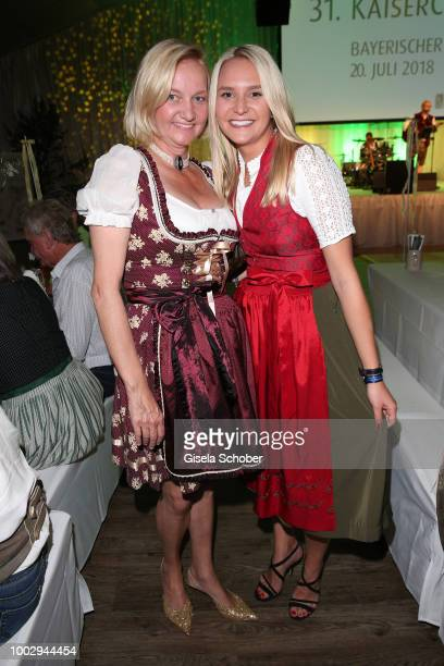 Stephanie Kinshofer daughter of Christa Kinshofer and her aunt Traudi Waldtraud Kinshofer during a bavarian evening ahead of the Kaiser Cup 2018 on...