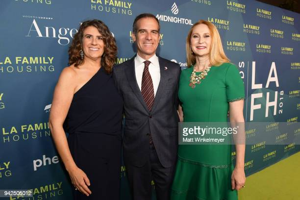 Stephanie KlaskyGamer Mayor of Los Angeles Eric Garcetti and Amy Elaine Wakeland attends the 2018 LA Family Housing Awards at The Lot in West...