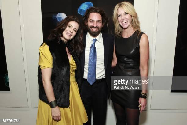Stephanie Kraeutler Joseph Kraeutler and Sarah Hasted attend ALBERT WATSON Artist Reception at Hasted Kraeutler Gallery on October 21 2010 in New...