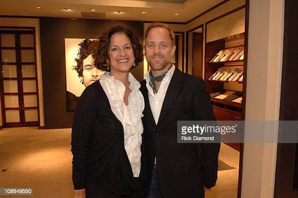 """Stephanie Kravitz and Bruce Pask during """"T Style"""" Magazine Launch Party at Bergdorf Goodman in New York City, New York, United States."""