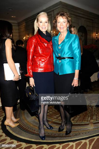 Stephanie Krieger and Margo Langenberg attend The 2009 ASPCA Humane Awards Luncheon at The Pierre on October 29 2009 in New York City