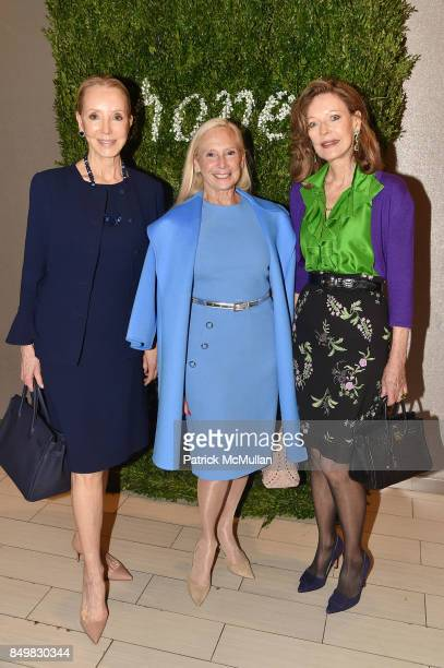 Stephanie Krieger Karen LeFrak and Margo Langenberg attend Audrey Gruss Marc Metrick Host hope Fragrance Luncheon at Cafe SFA Saks Fifth Avenue on...