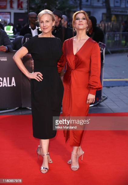 Stephanie Kurtzuba and Welker White attend The Irishman International Premiere and Closing Gala during the 63rd BFI London Film Festival at the Odeon...