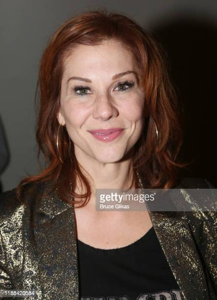 Stephanie Kurtzuba poses at the opening night after party for the new Matthew Lopez play The Inheritance on Broadway at Tribecca 360 on November 17...