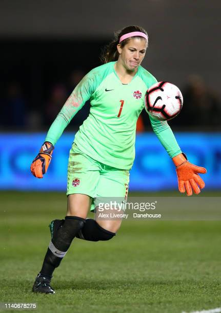 Stephanie Labbe of Canada Women during the International Friendly between England Women and Canada Women at The Academy Stadium on April 05, 2019 in...