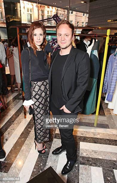 Stephanie LaCava and Nicholas Kirkwood attend the opening of Roksanda on Mount Street on June 10 2014 in London England
