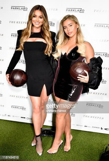 Stephanie Lam and Ellie Brown attend 'The Keeper' European Premiere at Vue Printworks on March 21 2019 in Manchester England