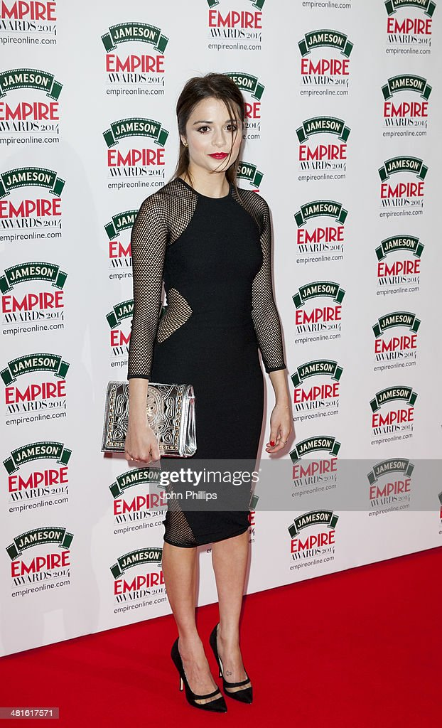 Stephanie Leonidas attends the Jameson Empire Film Awards at The Grosvenor House Hotel on March 30, 2014 in London, England.