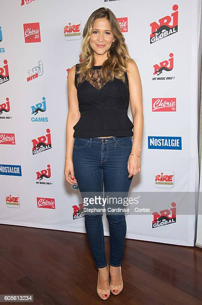 Stephanie Loire poses at the Photocall of NRJ Group at Musee du Quai Branly on September 14 2016 in Paris France