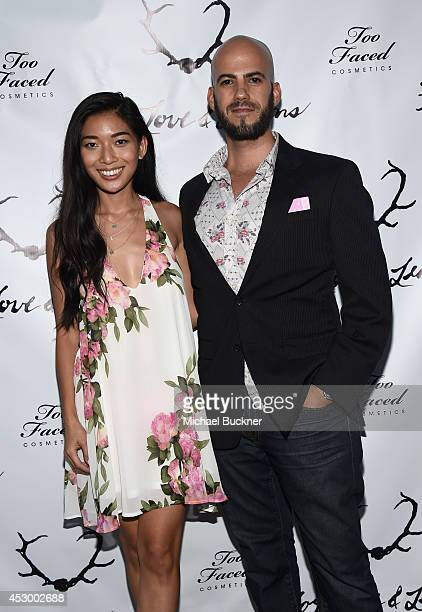Stephanie Lou and Kyle Hjelmeseth attend For Love and Lemons annual SKIVVIES party cohosted by Too Faced and performance by The Shoe at The...