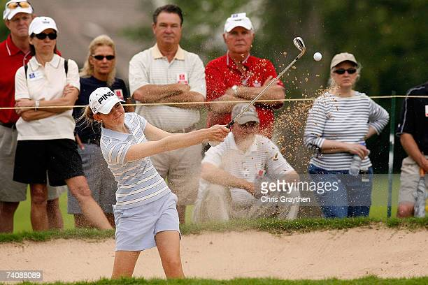 Stephanie Louden chips out of the sand on the 3rd hole during the final round of the SemGroup Championship presented by John Q Hammons on May 6 2007...