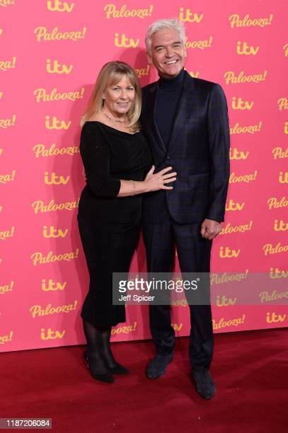 Stephanie Lowe and Phillip Schofield attend the ITV Palooza 2019 at the Royal Festival Hall on November 12 2019 in London England
