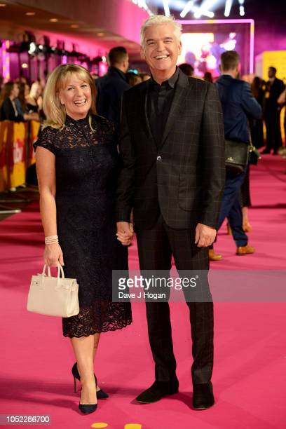 Stephanie Lowe and Phillip Schofield attend the ITV Palooza held at The Royal Festival Hall on October 16 2018 in London England