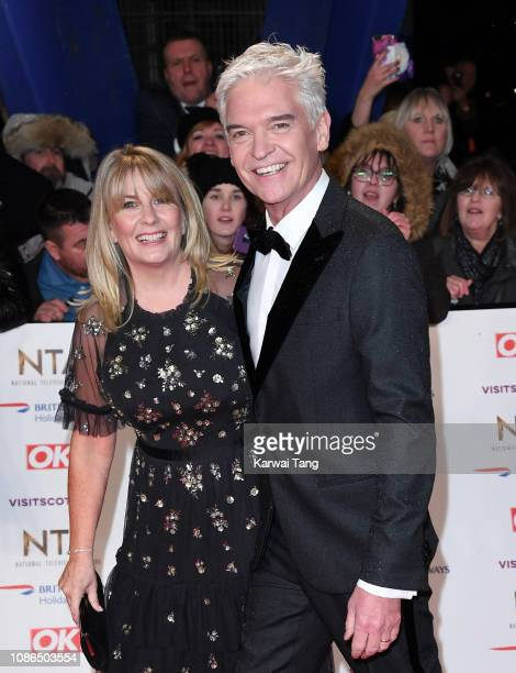 Stephanie Lowe and Phillip Schofield attend the National Television Awards held at The O2 Arena on January 22 2019 in London England