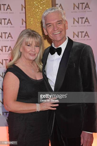 Stephanie Lowe and Phillip Schofield attend the National Television Awards 2020 at The O2 Arena on January 28 2020 in London England