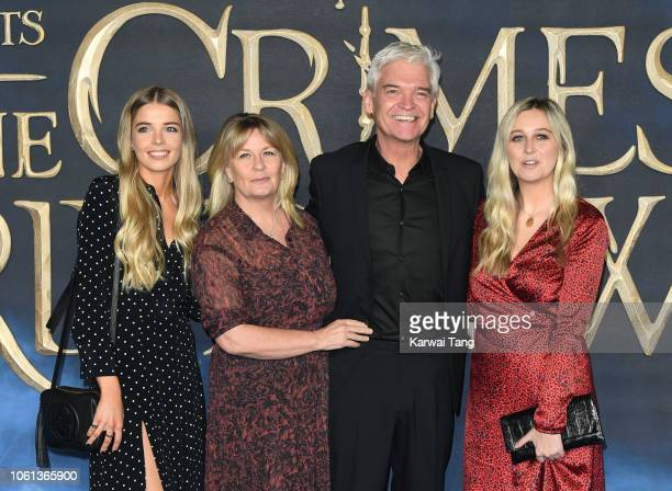 Stephanie Lowe Phillip Schofield and family attend the UK Premiere of Fantastic Beasts The Crimes Of Grindelwald at Cineworld Leicester Square on...