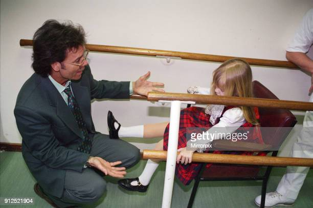 Stephanie Lush who had both of her legs amputated due to meningitis Pictured with singer Cliff Richard 26th February 1996