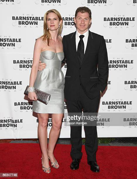 Stephanie March and Bobby Flay attend the Barnstable Brown Party Celebrating The 135th Kentucky Derby at Barnstable Brown House on May 1 2009 in...
