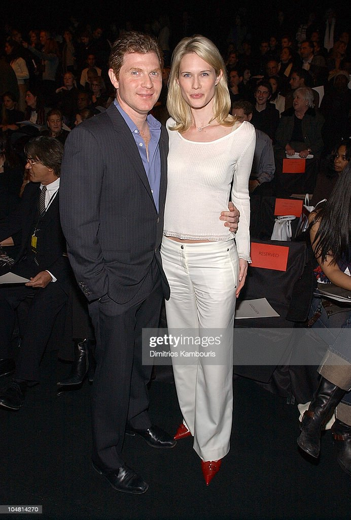 Stephanie March and guest during Mercedes Benz Fashion Week Fall 2003 Collections - Luca Luca - Front Row at Bryant Park in New York City, New York, United States.