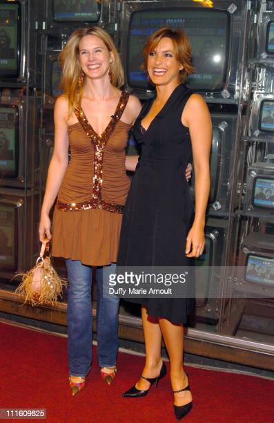 Stephanie March and Mariska Hargitay during Safe Horizon presents 'In Our Own Words' with Law and Order SVU at Crobar in New York City New York...