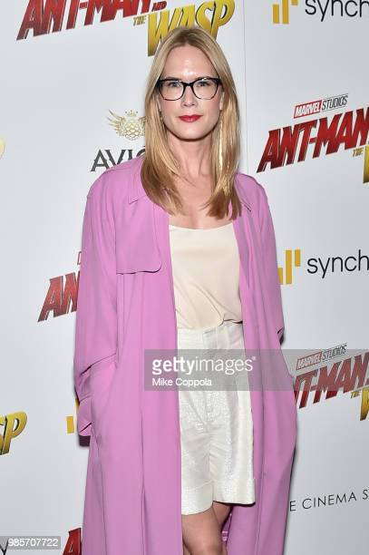 Stephanie March attends the a screening of Marvel Studios' 'AntMan and The Wasp' hosted by The Cinema Society with Synchrony and Avion at Museum of...