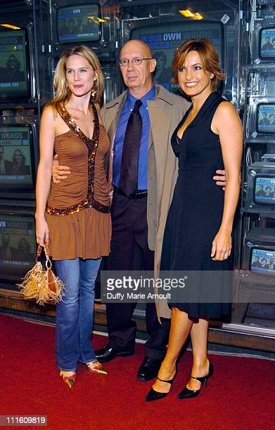 Stephanie March Dann Florek and Mariska Hargitay during Safe Horizon presents In Our Own Words with Law and Order SVU at Crobar in New York City New...