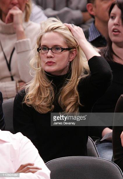 Stephanie March during Celebrity Sighting at Houston Rockets vs New York Knicks Game November 20 2006 at Madison Square Garden in New York City New...