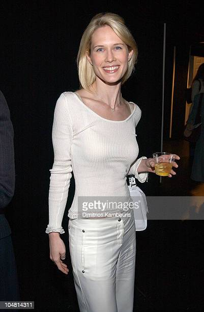 Stephanie March during Mercedes Benz Fashion Week Fall 2003 Collections Alice Roi Front Row at Bryant Park in New York City New York United States
