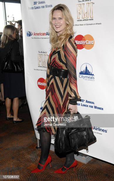 Stephanie March during Meryl Streep Iman and Fran Weissler CoChair the CitymealsOnWheels 20th Annual Power Lunch for Women at Rainbow Room in New...