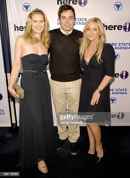 Stephanie March Jimmy Fallon and Jane Krakowski during The Empire State Pride Agenda's 15th Annual Fall Dinner Arrivals at The Sheraton in New York...
