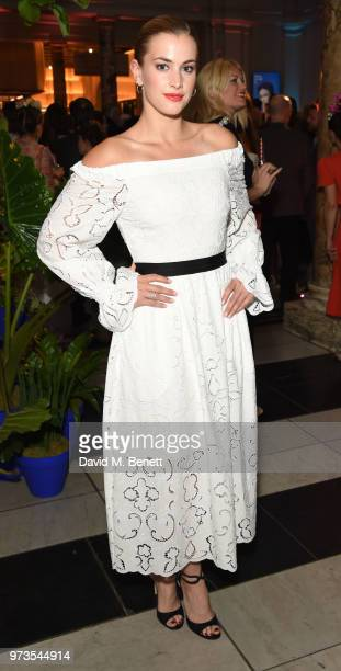 Stephanie Martini attends a private view of 'Frida Kahlo Making Her Self Up' at The VA on June 13 2018 in London England
