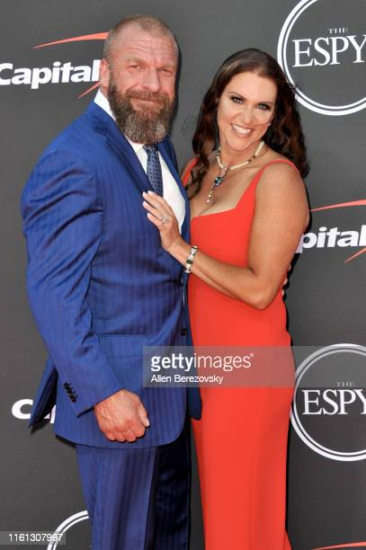 Stephanie McMahon and Triple H attend the 2019 ESPY Awards at Microsoft Theater on July 10 2019 in Los Angeles California