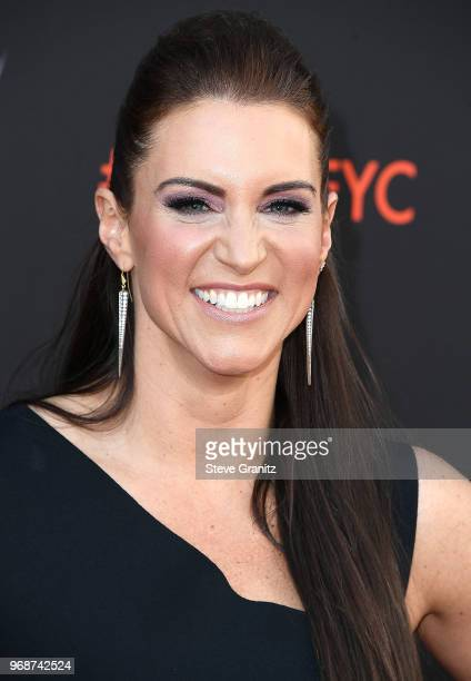 Stephanie McMahon arrives at the WWE's FirstEver Emmy For Your Consideration Event at Saban Media Center on June 6 2018 in North Hollywood California