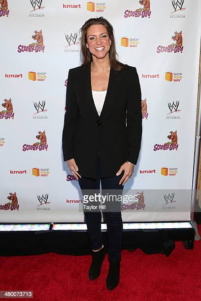 Stephanie McMahon attends Scooby Doo WrestleMania Mystery at Tribeca Cinemas on March 22 2014 in New York City