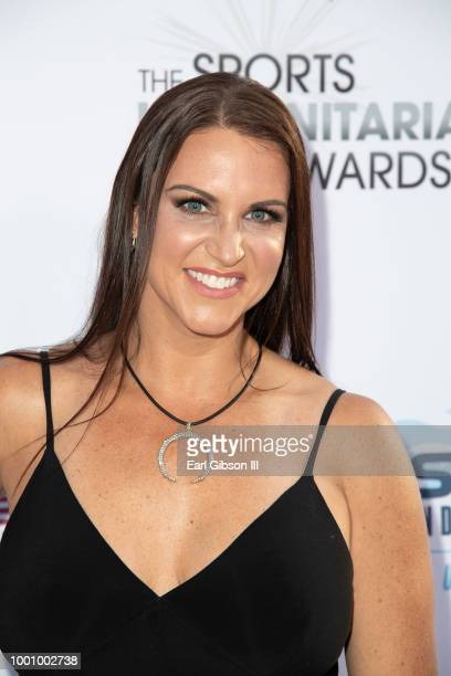 Stephanie McMahon attends the 4th Annual Sports Humanitarian Awards at The Novo by Microsoft on July 17 2018 in Los Angeles California