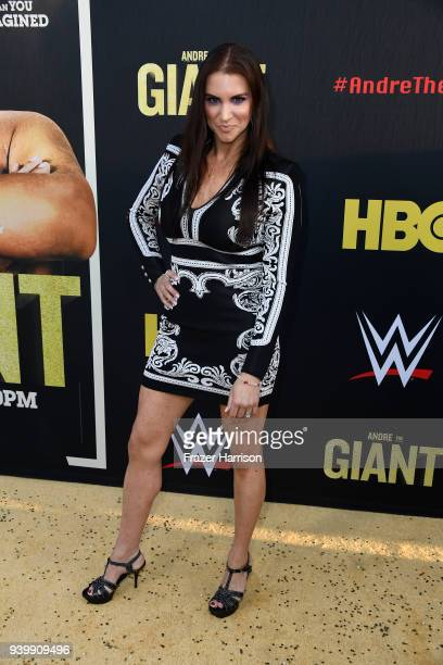 Stephanie McMahon attends the Premiere Of HBO's 'Andre The Giant' at The Cinerama Dome on March 29 2018 in Los Angeles California
