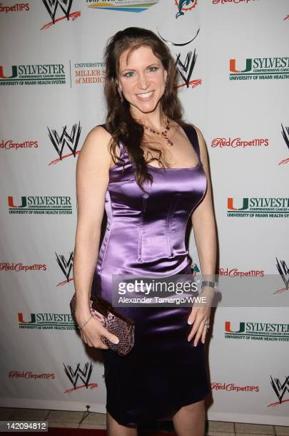 Stephanie McMahon attends WrestleMania Premiere Party A Celebration of Miami Art and Fashion on March 29 2012 in Miami Beach Florida