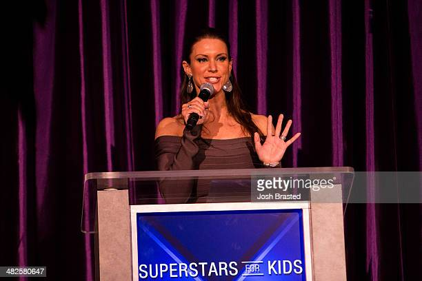 Stephanie McMahon attends WWE's 2014 SuperStars For Kids at the New Orleans Museum of Art on April 3 2014 in New Orleans