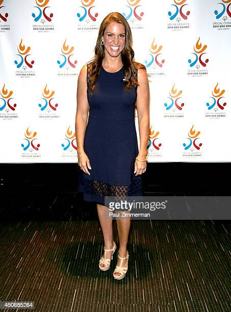 Stephanie McMahon Chief Brand Officer of WWE attends 2014 Special Olympics USA Games Opening Ceremony at Prudential Center on June 15 2014 in Newark...