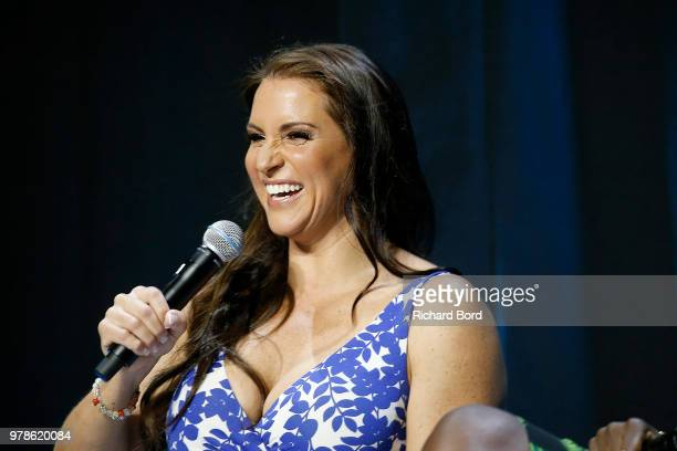 Stephanie McMahon speaks onstage during the WWE session at the Cannes Lions Festival 2018 on June 19 2018 in Cannes France