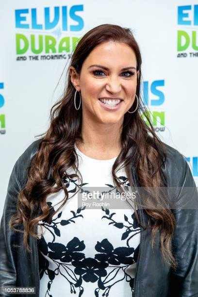 Stephanie McMahon visits the Elvis Duran Show to discuss the all woman Evolution WWE event at the Nassau Coliseum at Z100 Studio on October 26 2018...
