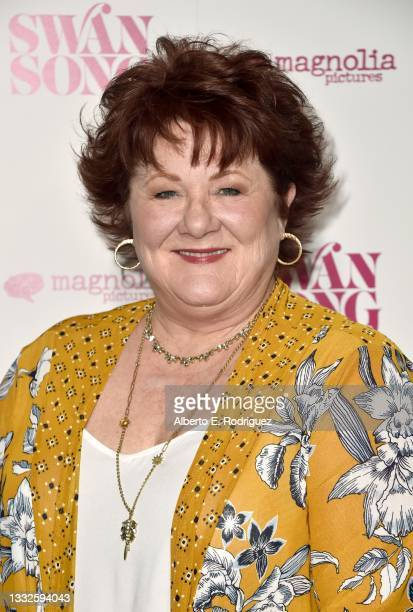 """Stephanie McVay attends the premiere of Magnolia Pictures' """"Swan Song"""" at iPic Theaters on August 05, 2021 in Los Angeles, California."""