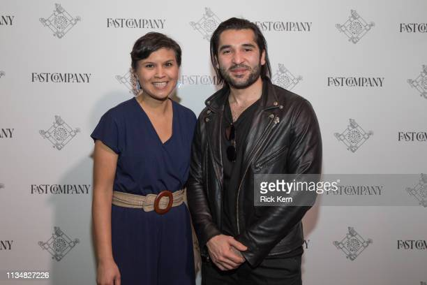 Stephanie Mehta EditorinChief Fast Company and Ahsan Rizvi Founder and CEO Kiddom attend the Fast Company Grill on March 09 2019 in Austin Texas