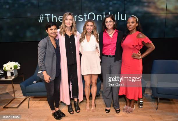 Stephanie Mehta Natascha McElhone Jennifer Fleiss Nicole Stott and Sarah Kunst attend Hulu's The First New York Activation with Samsung at Samsung...