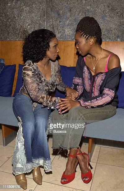 Stephanie Mills and Heather Headley during Heather Headley at You Rock MY Soul GMHC AIDS Benefit Party at Guastavinos in New York City New York...