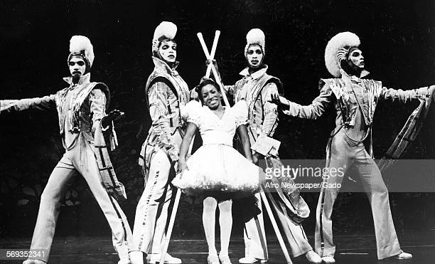 Stephanie Mills as Dorothy and actors in a scene from the Tony Awardwinning best musical The Wiz 1984