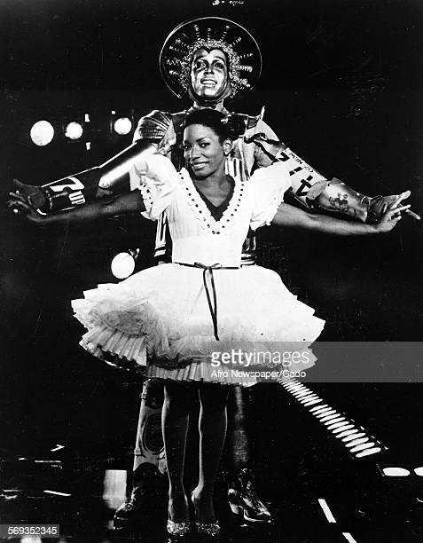 Stephanie Mills as Dorothy and Howard Porter as the Tinman in a scene from The Wiz January 21 1984